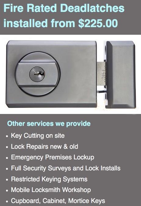 Moore Park Kensington Locksmiths service